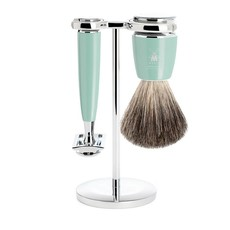 Shaving Set Rytmo 3-part - High-grade resin Mint - Saf.Razor
