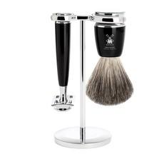 Shaving Set Rytmo 3-part - Black - Saf.Razor