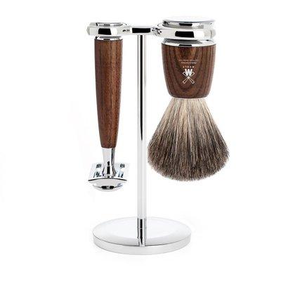 S81H220SR - Shaving Set Rytmo - Steamed ash - Saf.Razor - Badger