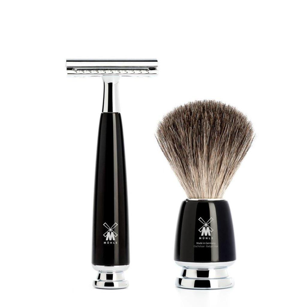 Shaving Set Rytmo 4-part - Black - Saf.Razor