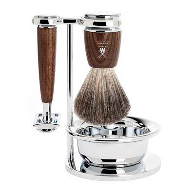 S81H220SSR - Shaving Set Rytmo - Steamed ash - Saf.Razor - Badger
