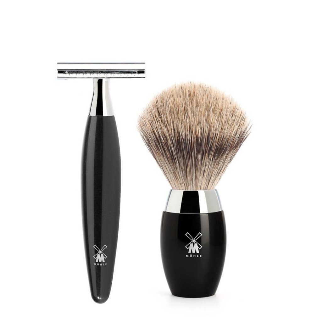Shaving Set Kosmo 3-part - Black - Saf.Razor