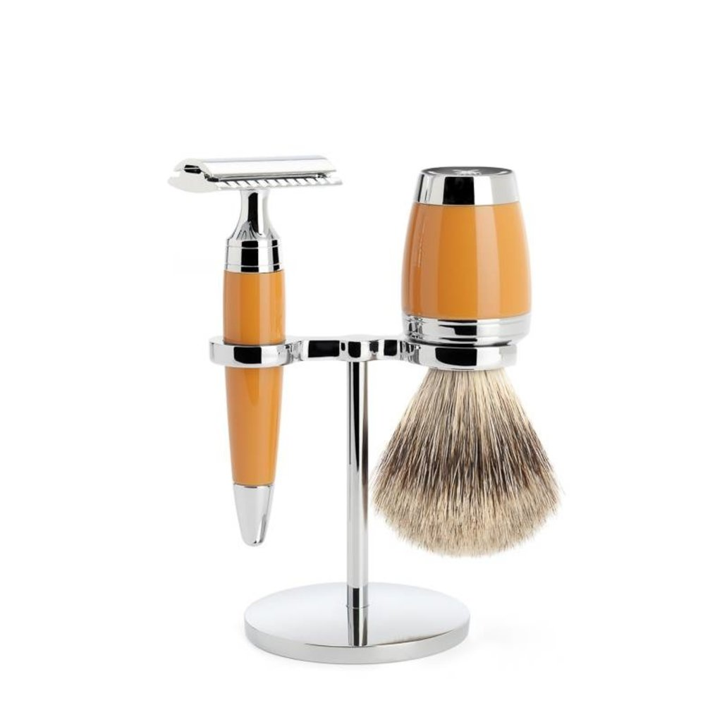 Shaving Set Stylo 3-part - Butterscotch - Saf.Razor