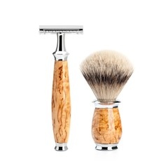 Shaving Set Purist 3-part - Maserbirke - Saf.Razor