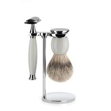 Shaving Set Sophist 3-part - Porcelain - Saf.Razor