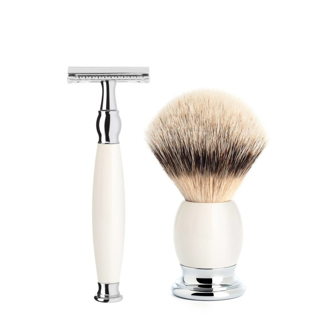 Shaving Set Sophist 4-part - Porcelain - Saf.Razor