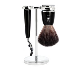 Shaving Set Rytmo 3-part - Black - Mach3®