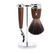 Shaving Set Rytmo 3-part - Steamed ash - Mach3®