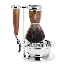 Shaving Set Rytmo 4-part - Steamed ash - Mach3®