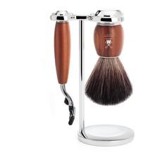 Shaving Set Vivo 3-part - Plum wood - Mach3®