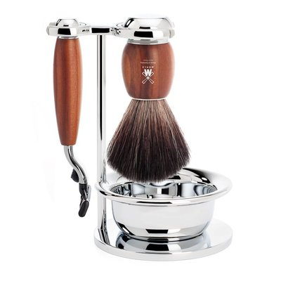 S21H331SM3 - Shaving Set Vivo - Plum wood - Mach3® - Fibre®