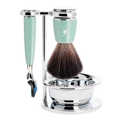 S21M224SF - Shaving Set Rytmo - High-grade resin Mint - Fusion® - Fibre®