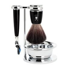 Shaving Set Rytmo 4-part - Black - Fusion®