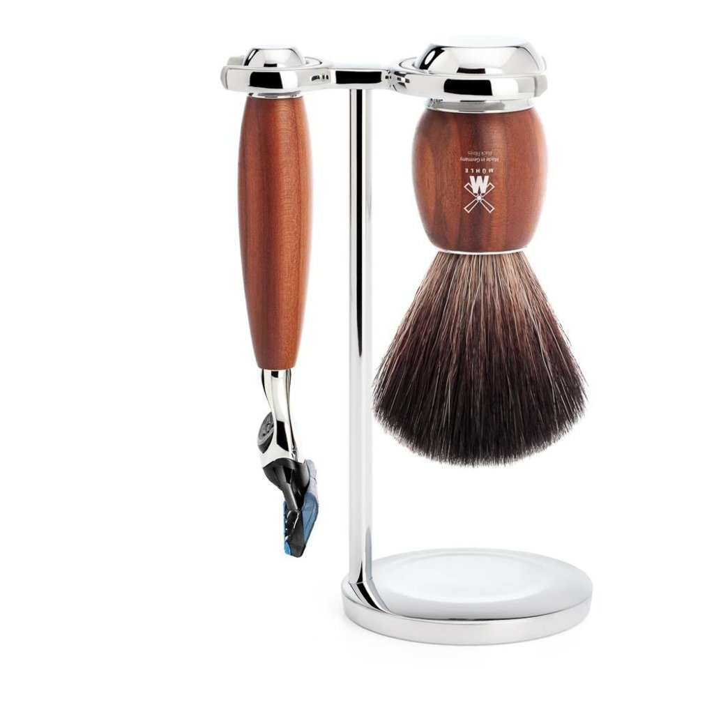 Shaving Set Vivo 3-part - Plum wood - Fusion®