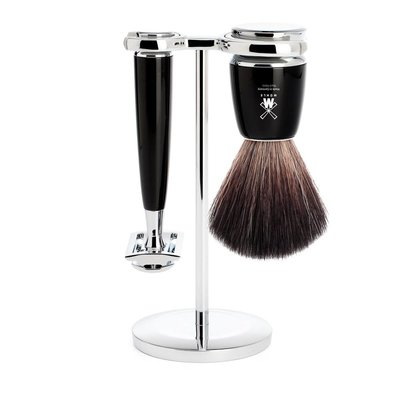 S21M226SR - Shaving Set Rytmo - Black - Saf.Razor - Fibre®