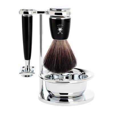 S21M226SSR - Shaving Set Rytmo - Black - Saf.Razor - Fibre®