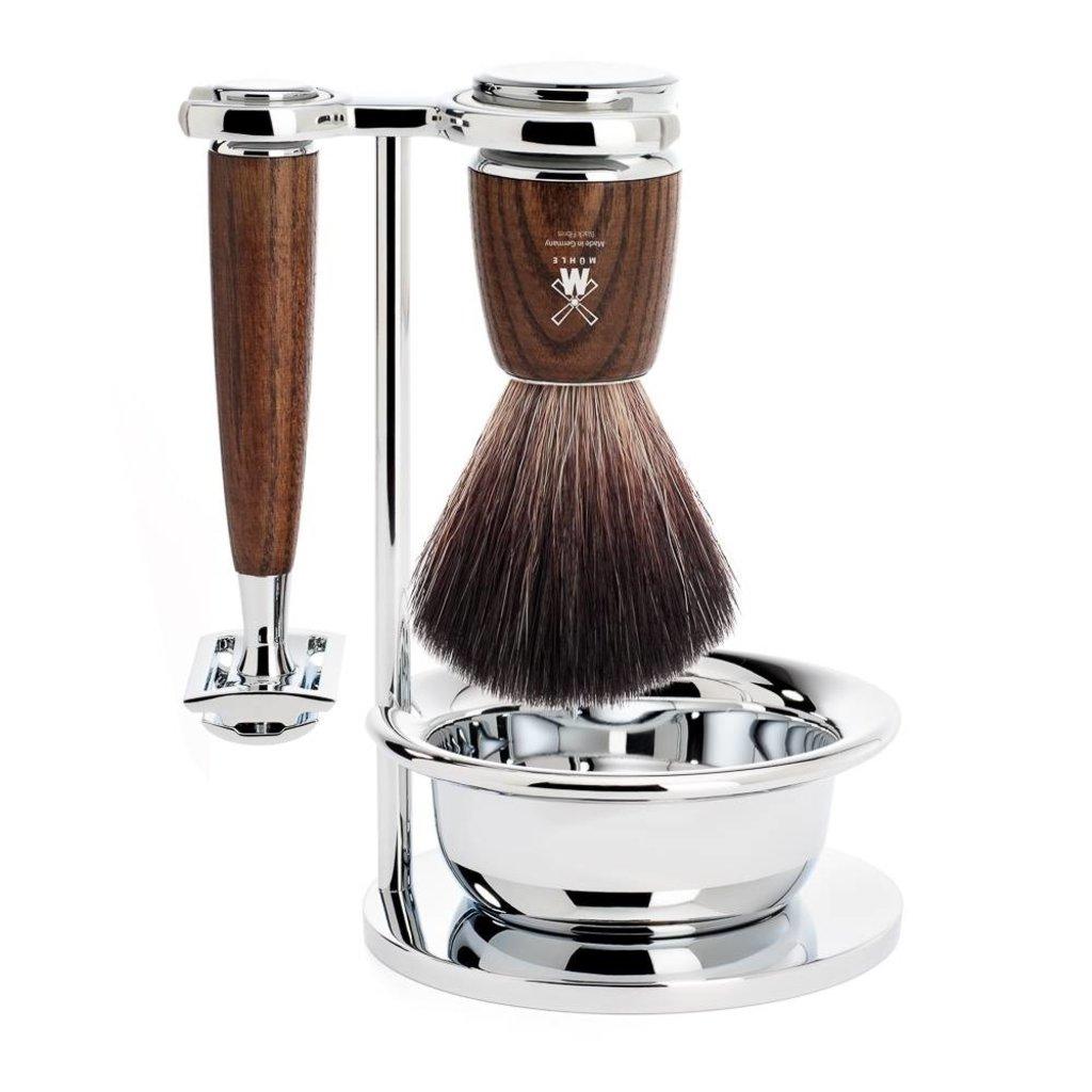 Shaving Set Rytmo 4-part - Steamed ash - Saf.Razor