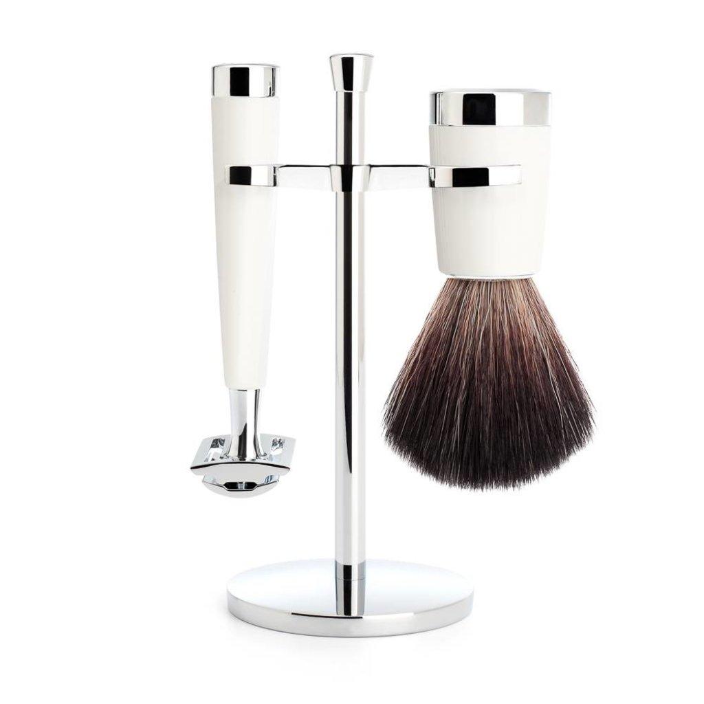 Shaving Set Liscio 3-part - White - Saf.Razor