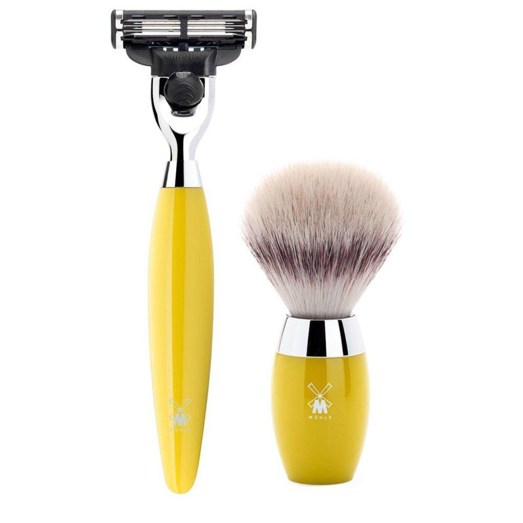 Shaving Set Kosmo 3-part - Yellow - Mach3®