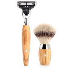Shaving Set Kosmo 3-part - Olive wood - Mach3®