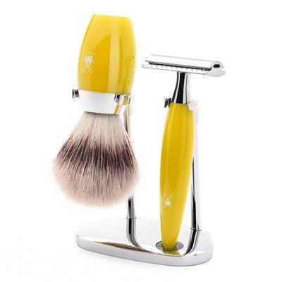 S31K874SR - Shaving Set Kosmo - Yellow - Saf.Razor - Fibre®