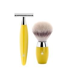 Shaving Set Kosmo 3-part - Yellow - Saf.Razor