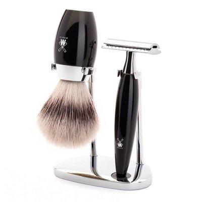 S31K876SR - Shaving Set Kosmo - Black - Saf.Razor - Fibre®