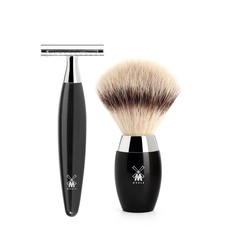 Shaving Set Kosmo 3-part - Black - Saf.Razor
