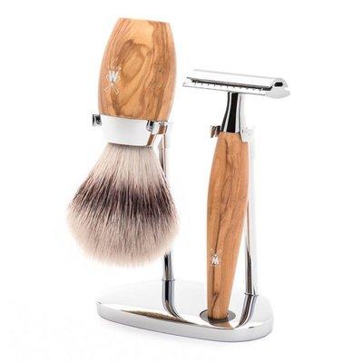 S31H870SR - Shaving Set Kosmo - Olive wood - Saf.Razor - Fibre®