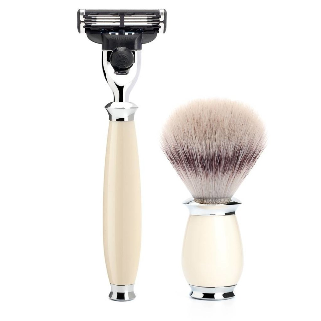 Shaving Set Purist 3-part - Ivory - Mach3®