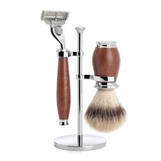 Shaving Set Purist 3-part - Briar wood - Mach3®