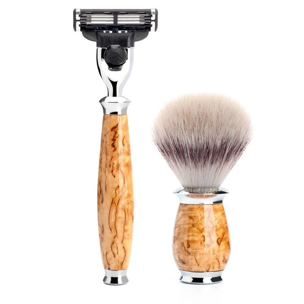 Shaving Set Purist 3-part - Maserbirke - Mach3®