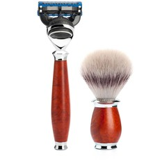 Shaving Set Purist 3-part - Briar wood - Fusion®