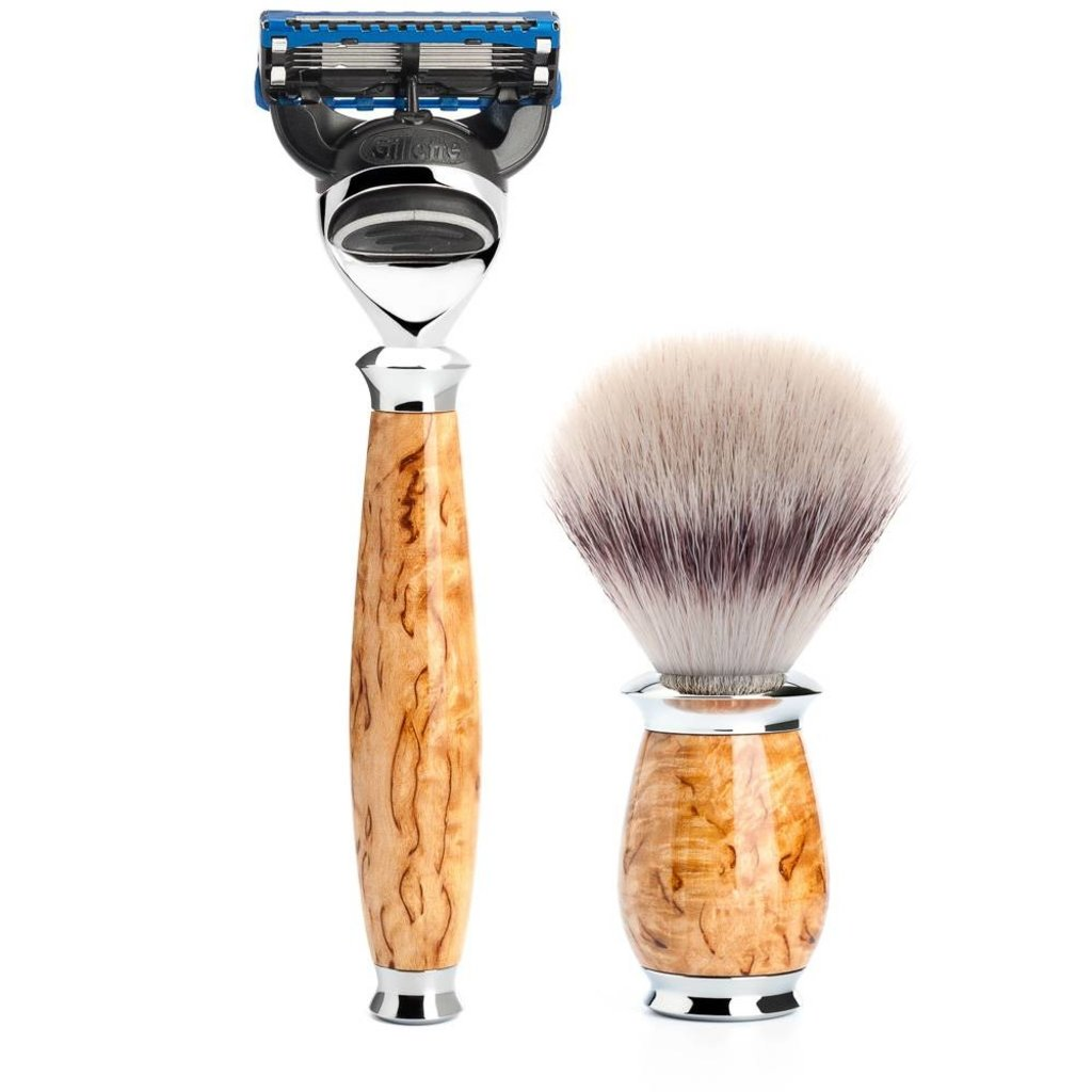 Shaving Set Purist 3-part - Maserbirke - Fusion®