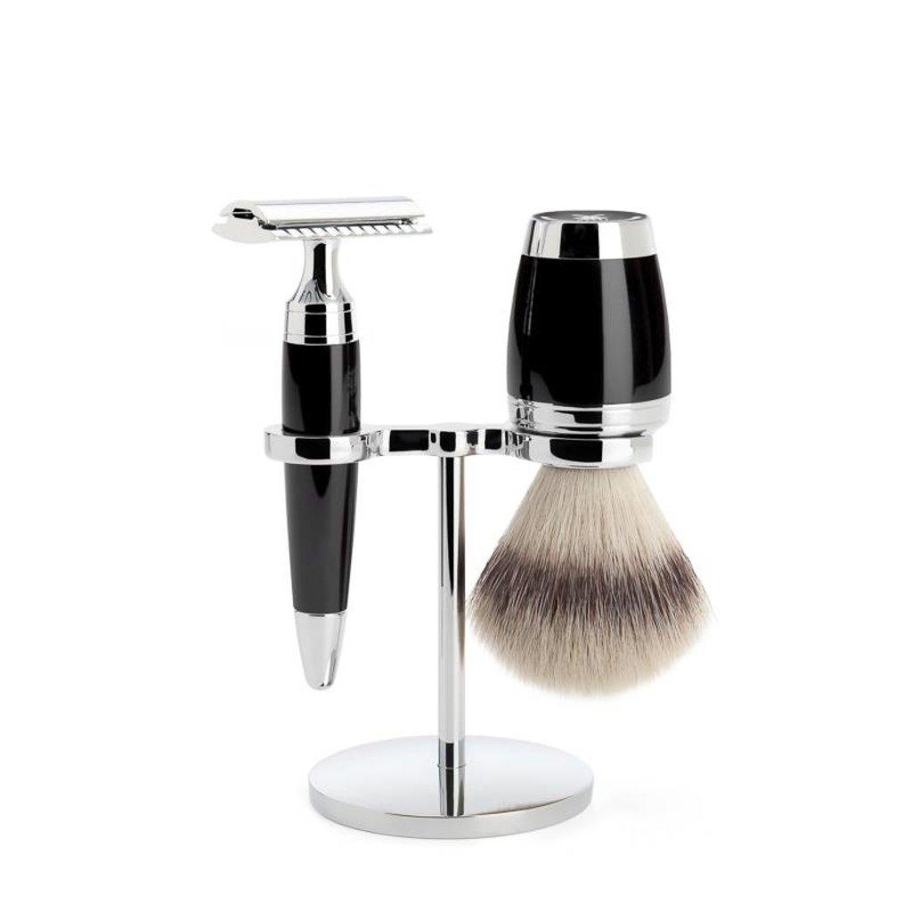 Shaving Set Stylo 3-part - Black - Saf.Razor