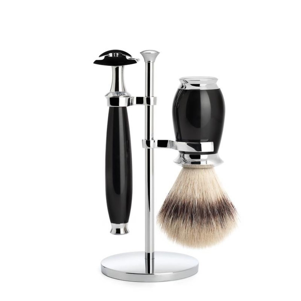 Shaving Set Purist 3-part - Black - Saf.Razor