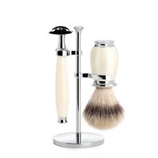 Shaving Set Purist 3-part - Ivory - Saf.Razor