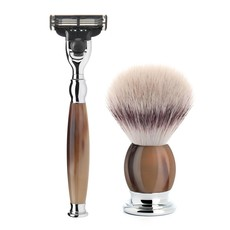 Shaving Set Sophist 4-part - Genuine horn - Mach3®