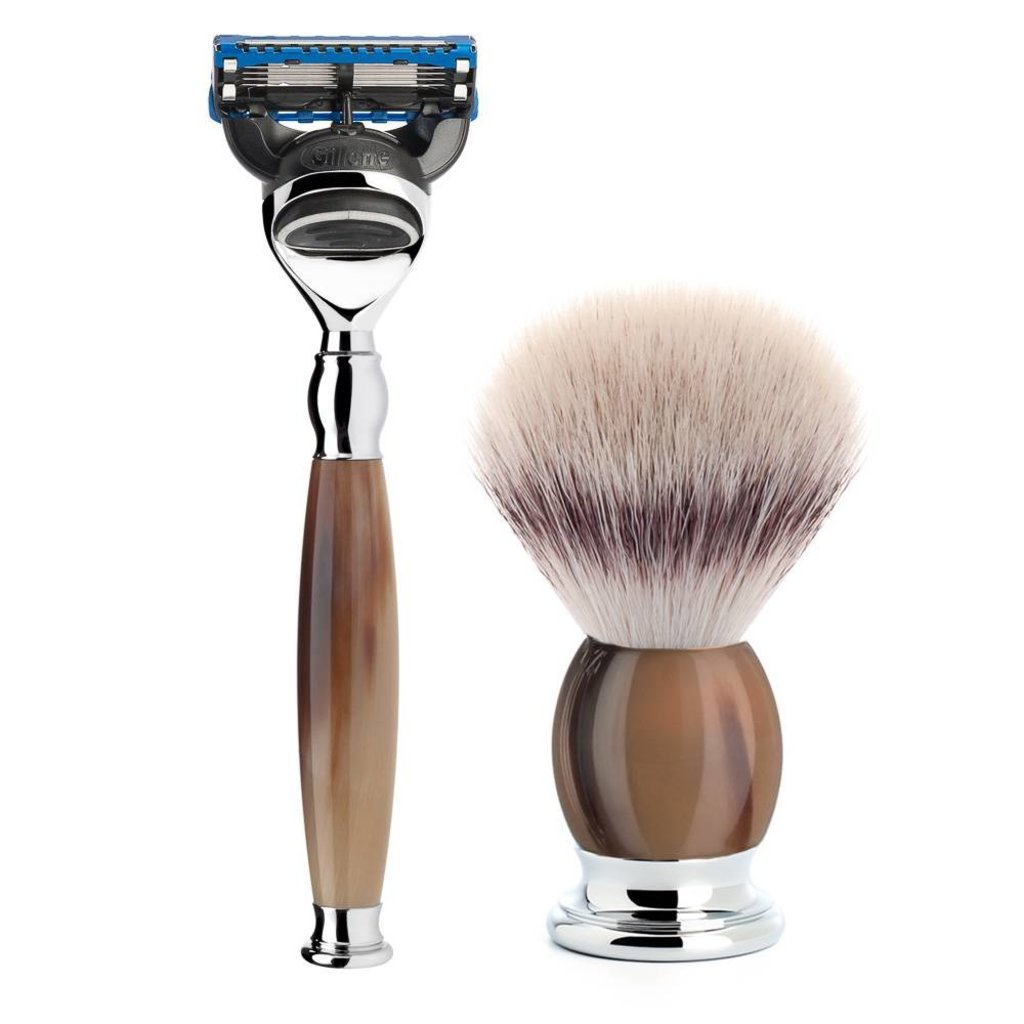 Shaving Set Sophist 3-part - Genuine horn - Fusion®