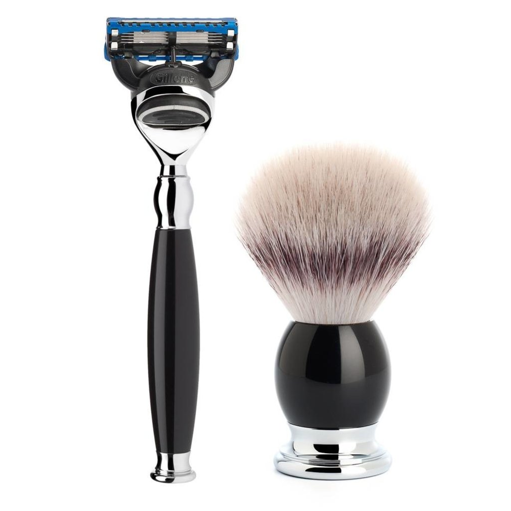 Shaving Set Sophist 4-part - Black - Fusion®