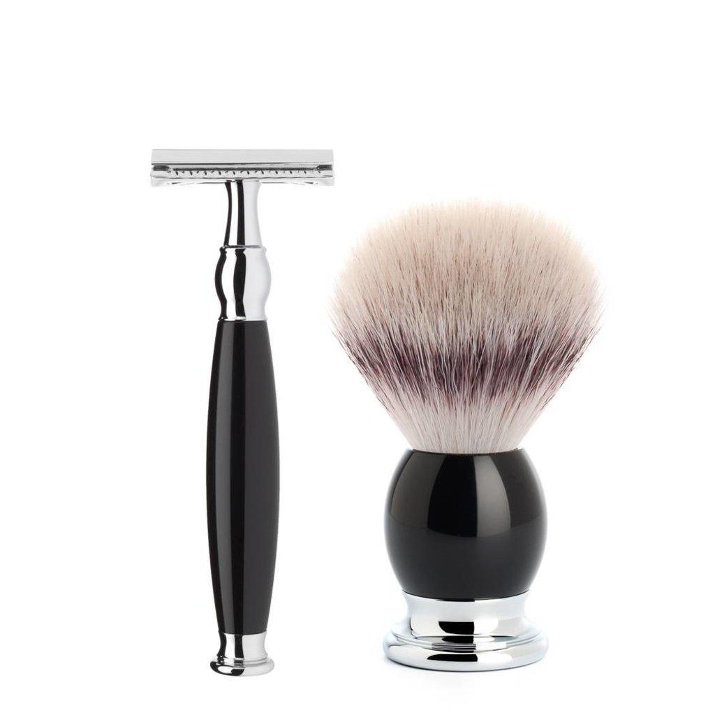 Shaving Set Sophist 3-part - Black - Saf.Razor