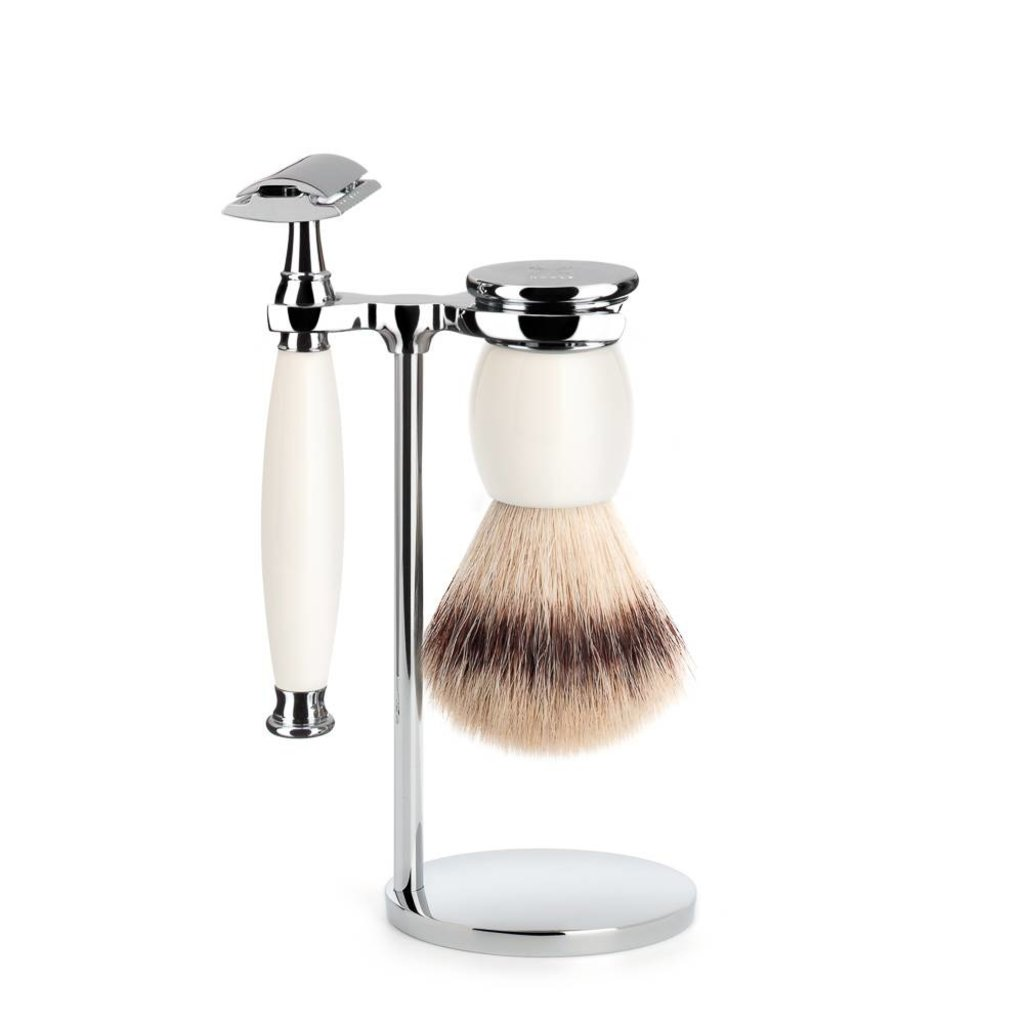 Shaving Set Sophist 3-part - Porcelain - Saf.Razor