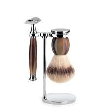 Shaving Set Sophist 3-part - Genuine horn - Saf.Razor