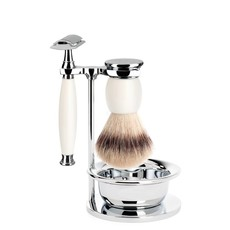 Shaving Set Sophist 4-part - Porcelain - Saf.Razor