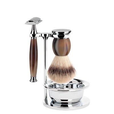S33B42SSR - Shaving Set Sophist - Genuine horn - Saf.Razor - Fibre®