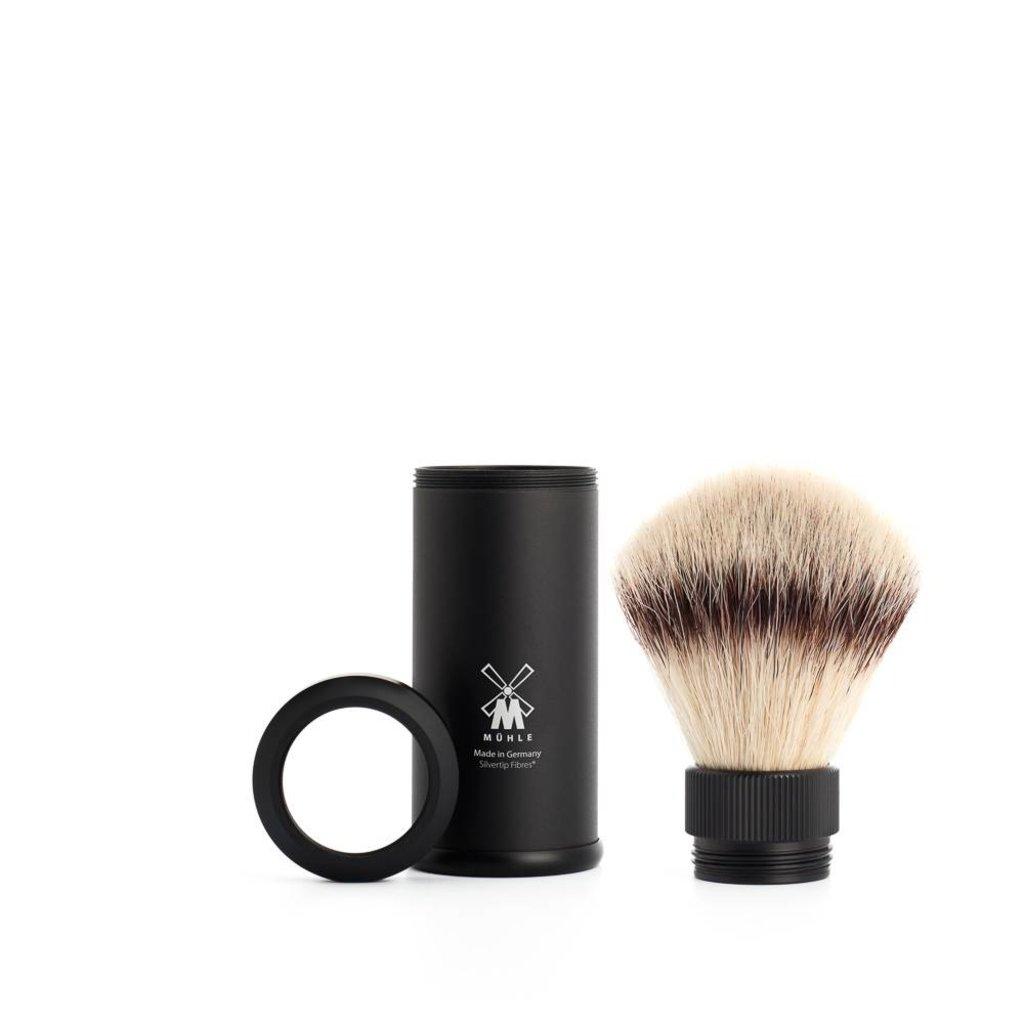 Travel Shaving Brush Silvertip Fibre® Black