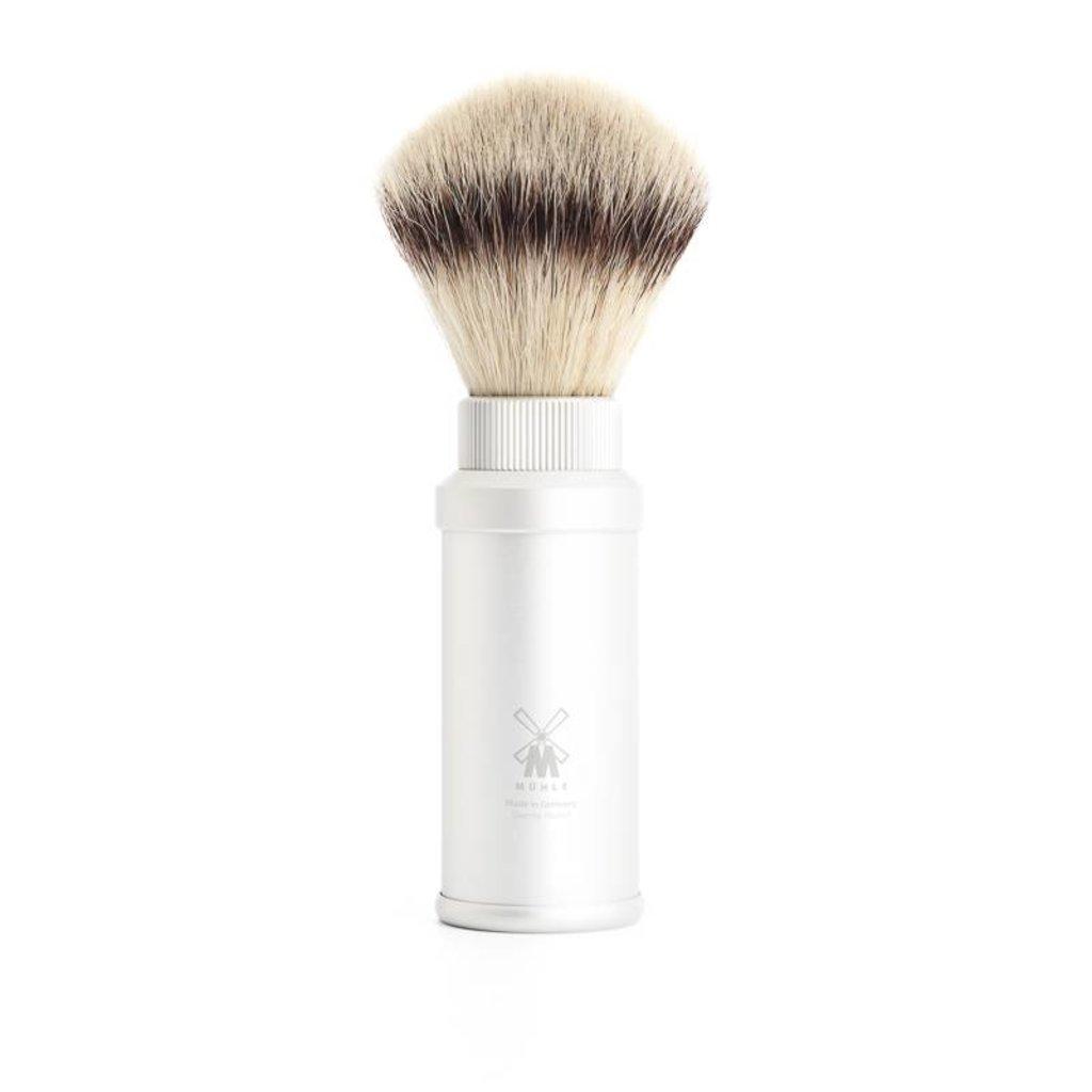 Travel Shaving Brush Silvertip Fibre® Anodised aluminium