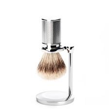 Holder Shaving Brush Safety Razor - Chrome