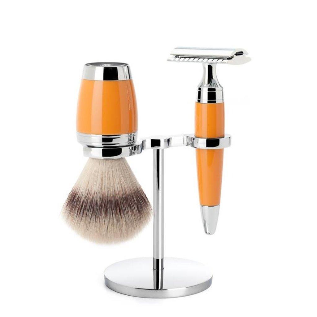 Holder Brush and Razor Stylo - Chrome