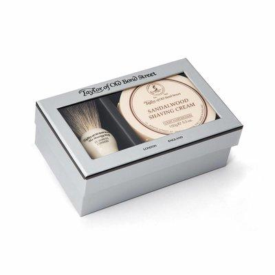 00206 - Giftbox scheerkwast en scheercrème Sandalwood
